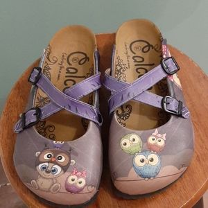 Calcleo owls mules or clogs 38